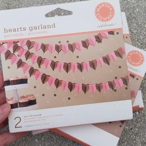 Martha Stewart Heart Garlands